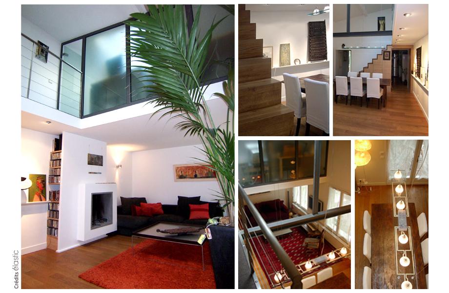 Elastic Paris Architecte d'intérieur Loft Damrémont