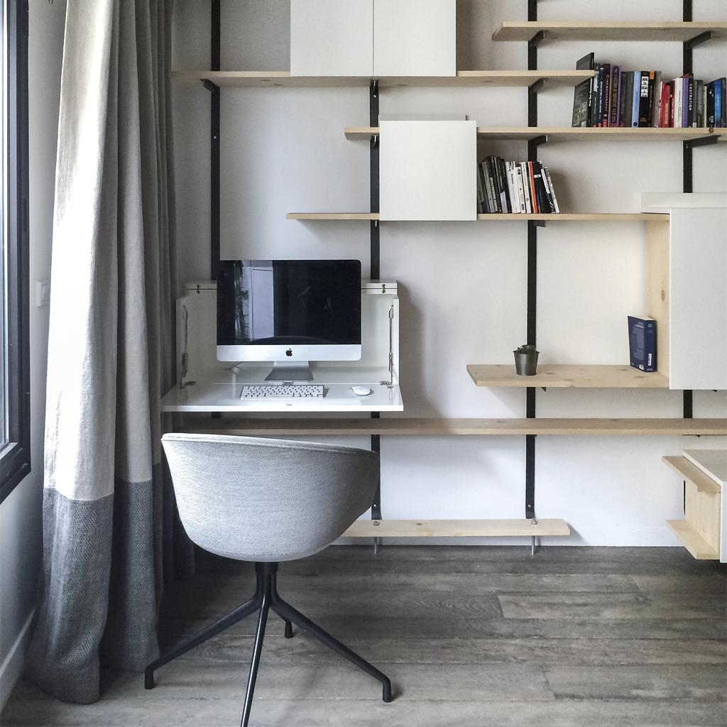 Elastic Paris Architecte d'intérieur Sedaine Bureau bibliothèque