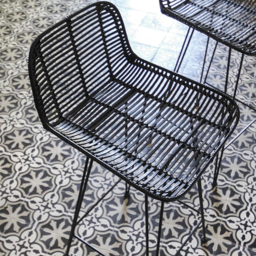 Elastic Paris Architecte d'intérieur DEIA Tabouret Carreaux de ciment