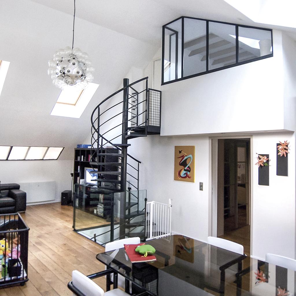 Elastic Paris Architecte d'intérieur Dupleix sous les toits