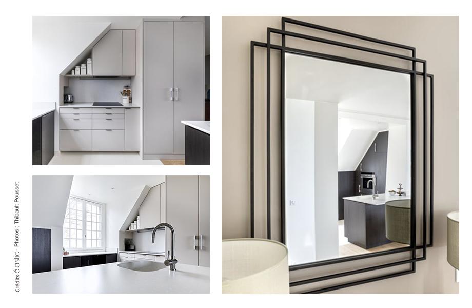 Elastic Paris Architecte d'intérieur Saint Vincent cuisine bicolore