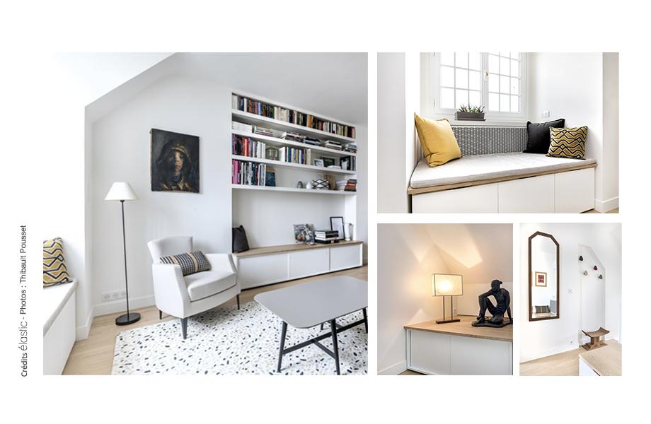 Elastic Paris Architecte d'intérieur Saint Vincent banquettes rangements